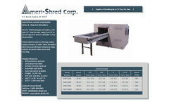 Ameri-Shred - Series 4 - Strip Cut Industrial Paper Shredders - Brochure