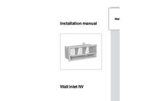 Munters - Model IW150 - Air Inlet - Manual