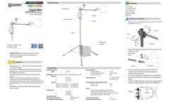 Campbell Scientific CSAT3BH Heated 3-D Sonic Anemometer with Integrated Electronics - Quick Deploy Guide