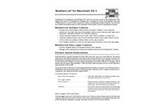 WeatherLink for Mac OSX, for Vantage Stations Brochure