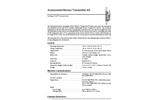Vantage Pro2- Anemometer/Sensor Transmitter Kit Specification Sheets