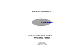 Enerac - Model 500 - Micro-Emissions Analyzer Instruction Manual