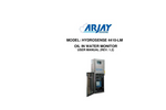 HydroSense - Model 4410-LMP - PPM Oil in Water Monitor - User Manual
