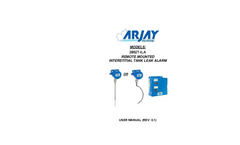 Arjay - Model 2852T-ILA - Interstital Tank Leak Alarm - User Manual