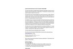 Arjay - Model 2880-FCM - Foam Control Monitor - Specification