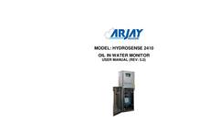 Arjay HydroSense - Model 2410 - PPM Oil in Water Monitor - User Manual