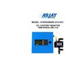 Arjay HydroSense - Model 4410 OCM - Oil Content Monitor - User Manual