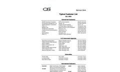 OSI - Customer List Brochure (PDF 27 KB)