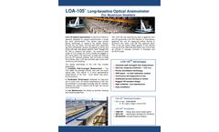 OSi - Model LOA-105 - Long-Baseline Optical Anemometer for Aluminum Smelters - Brochure