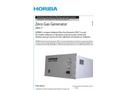 HORIBA - ZNV-7 - Zero Gas Generator Brochure