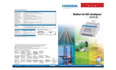 HORIBA - Model SLFA-60 - X-ray Fluorescence Sulfur-in-Oil Analyzer - Brochure