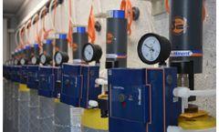 Emergency shut-off system for chlorine gas
