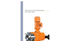 Motor-driven and process metering pumps for all capacity ranges - Catalogue