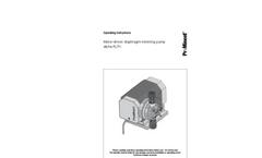 ProMinent - Alpha ALPc- Motor Diaphragm Metering Pump - Operating Instructions Manual