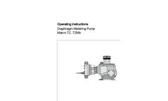 Makro TZ, TZMb - Diaphragm Metering Pump - Operating Instructions Manual