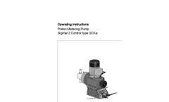 Sigma/ 2 Control Type SCKa - Piston Metering Pump - Operating Instructions Manual