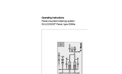 DULCODOS Panel, Type DSWb - Panel-Mounted Metering System - Assembly and Operating Instructions Manual