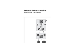 ProMinent Dulcodos - Pool Comfort Metering Systems - Assembly and Operating Instructions Manual