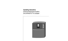 CHLORINSITU - Model IV - Compact Electrolysis System - Manual