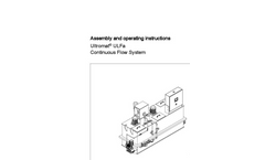 Ultromat – ULFa - Continuous Flow System - Assembly and Operating Instructions Manual