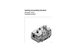Ultromat – ULPa - Oscillating System - Assembly and Operating Instructions Manual