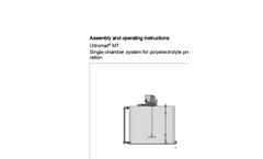 Ultromat – MT - Single-Chamber System for Polyelectrolyte Preparation - Manual