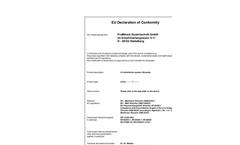 EU Declaration of Conformity Certificate
