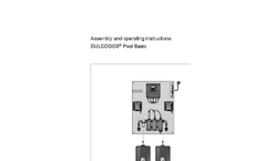 ProMinent Dulcodos - Pool Basic Metering Systems - Assembly and Operating Instructions Manual