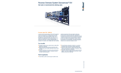 ProMinent Dulcosmose - Model SW - Reverse Osmosis System Brochure