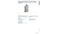 ProMinent Ultromat - Model MT - Metering System for Batch Operation - Brochure