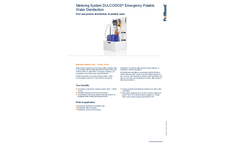 ProMinent Dulcodos - Emergency Potable Water Disinfection Metering System - Brochure