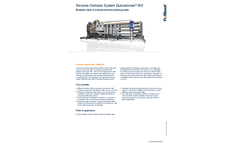 ProMinent Dulcosmose - Model BW - Reverse Osmosis System - Brochure