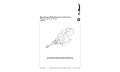 Spectra - Progressing Cavity Pump - Operating and Maintenance Instructions Manual