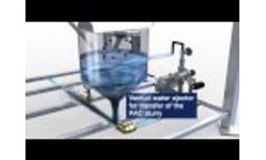Tomal Metering System for Powdered Activated Carbon (PAC) - Video