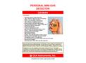 CEA - Model Gasman - Personal Mini-Gas Detectors - Brochure