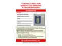 CEA - Model Gasmaster Series - Control Panel For Remote Gas Sensors & Fire Monitoring - Datasheet