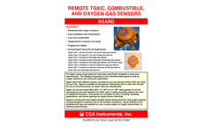 CEA - Model Xgard Series - Remote Toxic, Combustible and Oxygen Gas Sensors - Datasheet