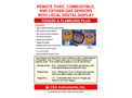 CEA - Model Txgard & Flamgard Plus - Remote Toxic, Combustible and Oxygen Gas Sensors - Datasheet