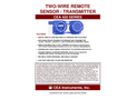 CEA - Model 420 Series - Two-Wire Remote Sensor / Transmitter - Datasheet