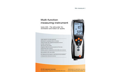 Testo 435-4 - Multi- Function Measuring Instrument with Integrated Differential Pressure Measurement Brochure