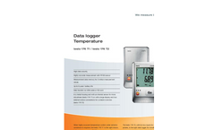 Testo 176 T1 1-Channel Temperature Logger Brochure