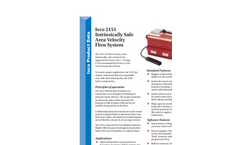 Teledyne Isco - Model 2151 - Intrinsically Safe Area Velocity Flow Meter - Datasheet