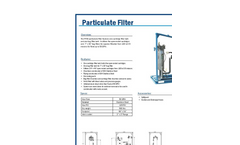 PF50 - Particulate Filter Brochure
