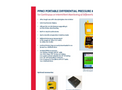 Model PPM3 - Portable Differential Pressure Monitor - Datasheet