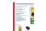 Model PPM3 - Portable Differential Pressure Monitor - Datasheet