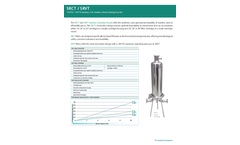 Strainrite - Model SRCT / SRVT - Sanitary Stainless Steel Cartridge Vessels - Brochure