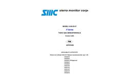 SMC - Model 5100-XX-IT - Electrochemical Toxic Gas Sensor - Manual