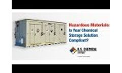 US Chemical Storage - Is Your Chemical Storage Solution Compliant? Video