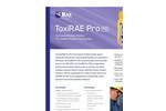 ToxiRAE Pro PID - Wireless VOC Single Gas Monitor- Brochure