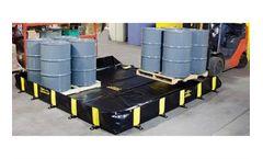Rigid-Lock QuickBerm - Model Dimensions: 10 ft x 10 ft x 1 ft - Flexible Spill Containment Berms